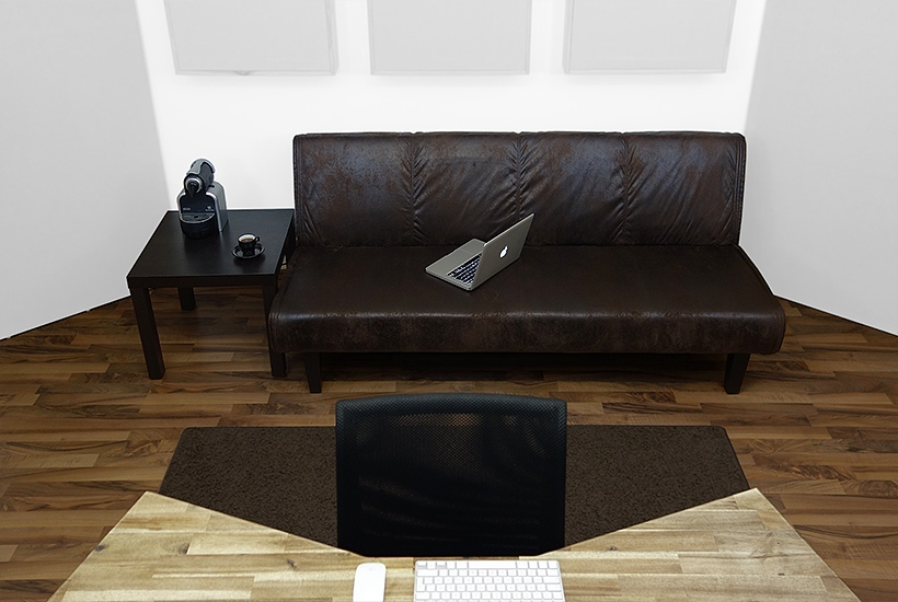 Online Mastering Studio - Client Seating Area